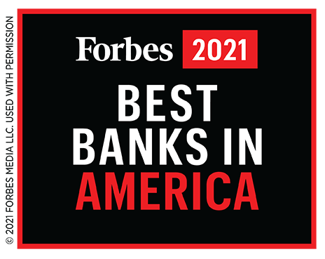 Forbes 2021 Best Banks in America
