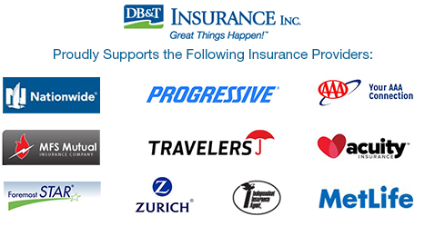 List of Insurance Providers' logos that DB&T Insurance Supports